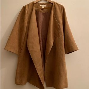Like New H&M Tan suede-like duster